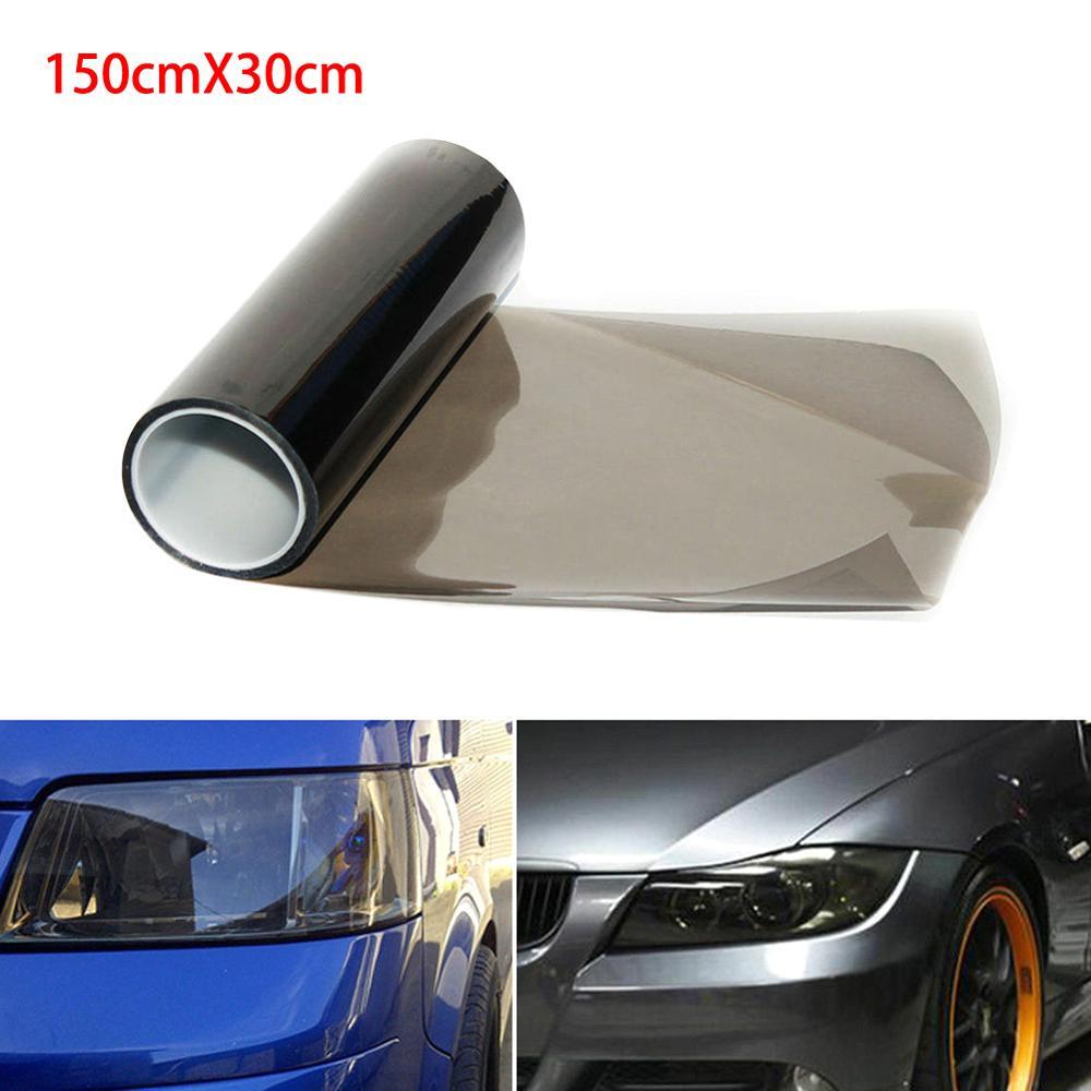 Автомобильная светильник вая пленка, цветная автостайлинг 30*150 см, автомобильная матовая черная тонировка светильник фара, задняя фара тума...