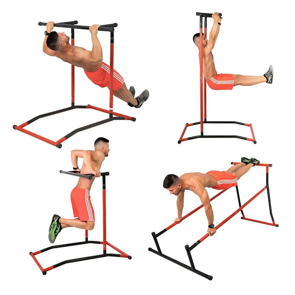Pull Up Dip Station Gym Bar Power Pull Up Turm Kinn Bis Multi Funktion Stahl Tragbare