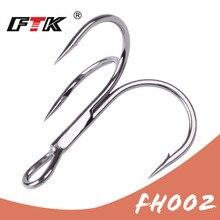 Crochets de pêche haute acier carbone matériel Treble noir rond triple crochet Bass3/0 #-1 #10 pièces 2 #-4 #15 pièces 6 #-14 #20 pièces outils de matériel