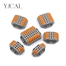 Led Licht Draad Connector Vaste Type Push-On Terminal Blok Kooi Voorjaar Universele Snelle Bedrading Clip Koper-Aluminium butt Plug