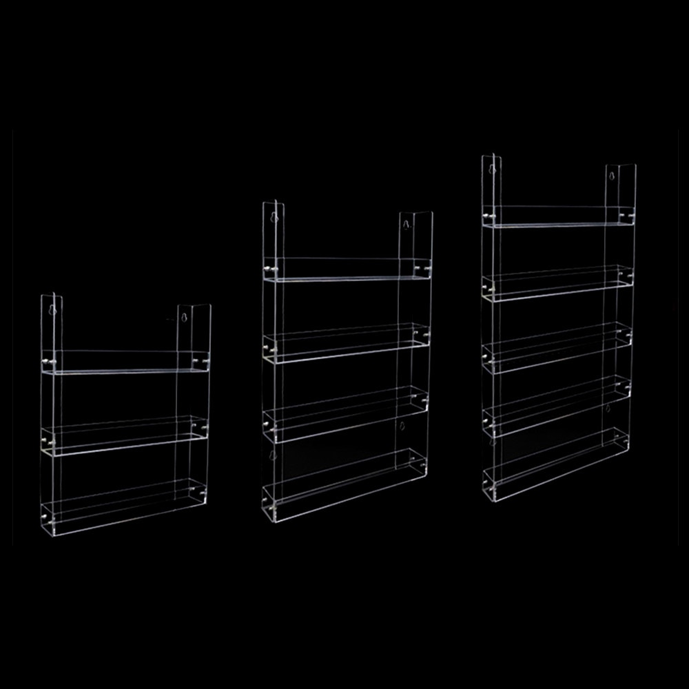 Plastic Acrylic Display Hanging Stand Holder Shelf Layers for Quick Store Cigarette Bottle Commodity Wall-Hung 1set