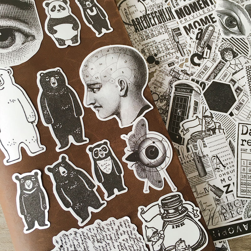 64PCS vintage Stickers Crafts And Scrapbooking stickers kids toys book Decorative sticker DIY Stationery недорого
