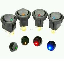 3 pines focos LED 12V Auto barco basculante redonda en/de interruptor de conmutación SPST DIY