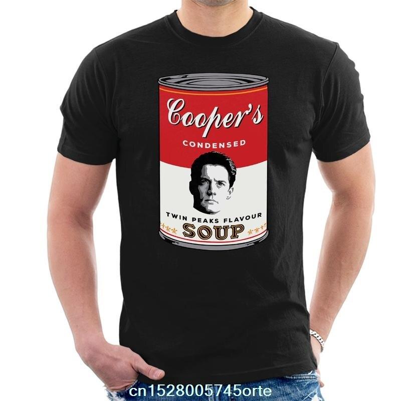 Camiseta estampada divertida 2020 Dale Cooper Twin Peaks sopera para hombre camiseta 100% de algodón para mujer