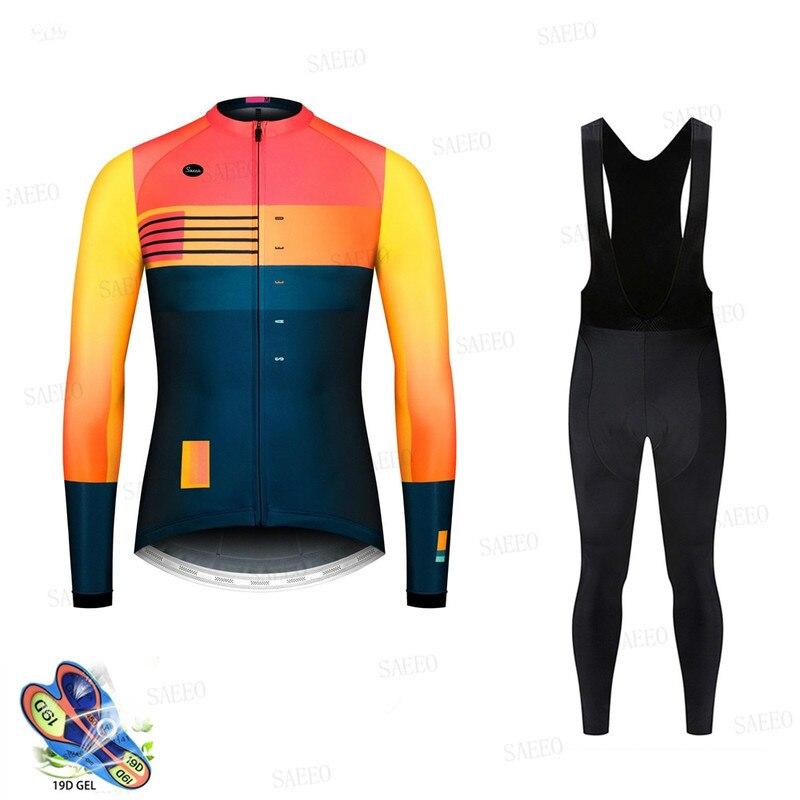 2020 nouveaux hommes à manches longues cyclisme Maillot vêtements Pro équipe à manches longues cyclisme Maillot ensemble vtt Maillot Ropa Ciclismo vélo uniforme