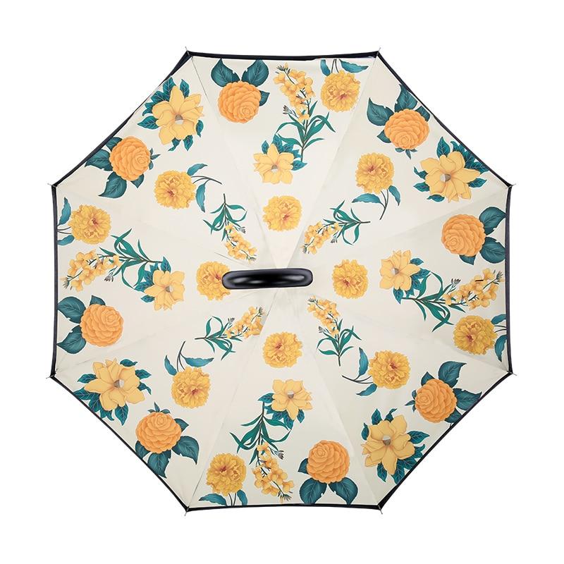 Adult Automatic Reverse Umbrella Large Windproof Luxury Rain Clear Umbrella Women Outdoor Guarda Chuva Rain Gear BK50YS enlarge
