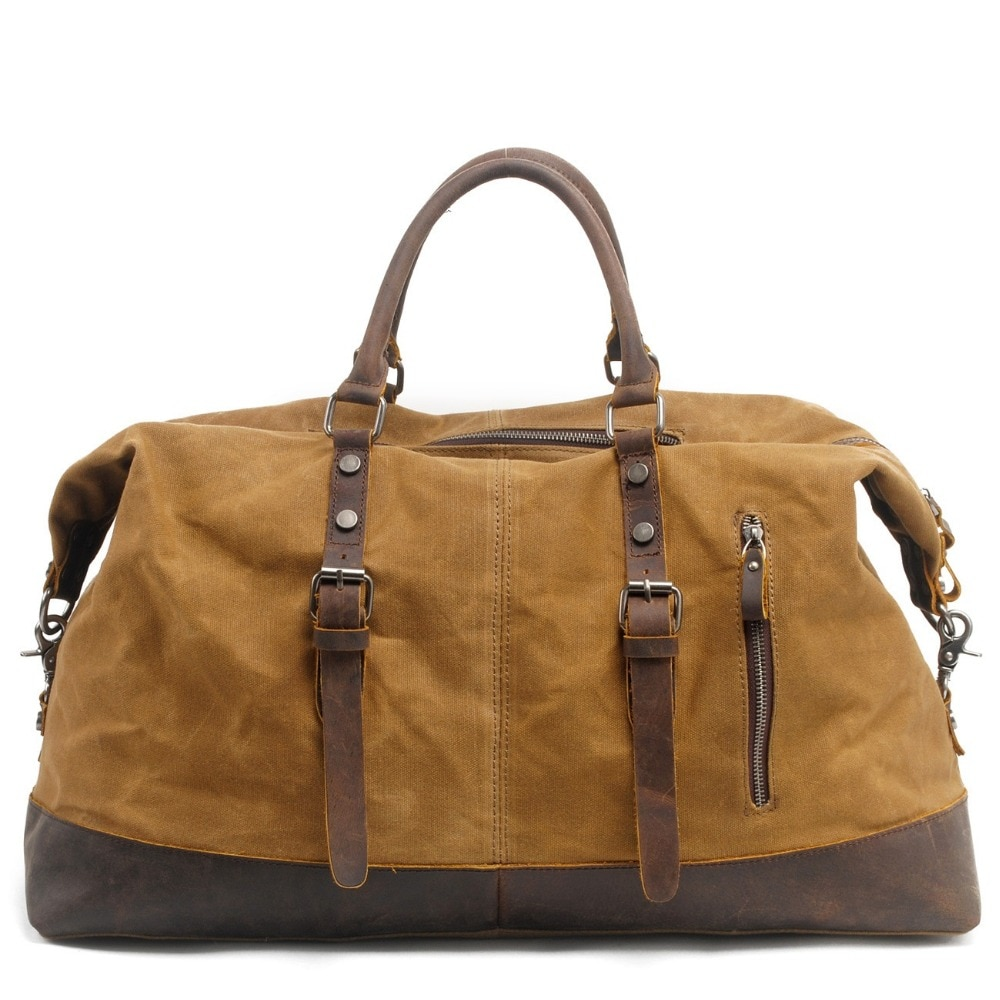Weysfor Vogue Водонепроницаемые кожаные мужские дорожные сумки из парусины, сумки для ручной клади, мужские спортивные сумки, дорожные сумки, бол...