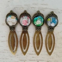 1 Pcs Creative Retro Bronze cat Bookmark Vintage Metal Crown Bookmarks with Glass Book Page Marker