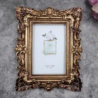 european resin wall photo frame oil painting frame countertop decorative frame gold embossed photo frame cadre photo frame