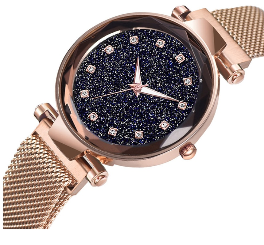 Luxury Brand Watch Women Watches Ladies Crystal Quartz Ladies Watch Mesh Magnet Buckle Starry Sky Female Clock Relogio Feminino enlarge