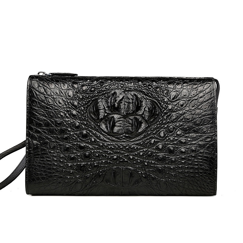 Crocodile Hand Package Business Affairs Leisure Time Man mens Wallet purse Bag Genuine Leather Male Catch Zipper free shipping