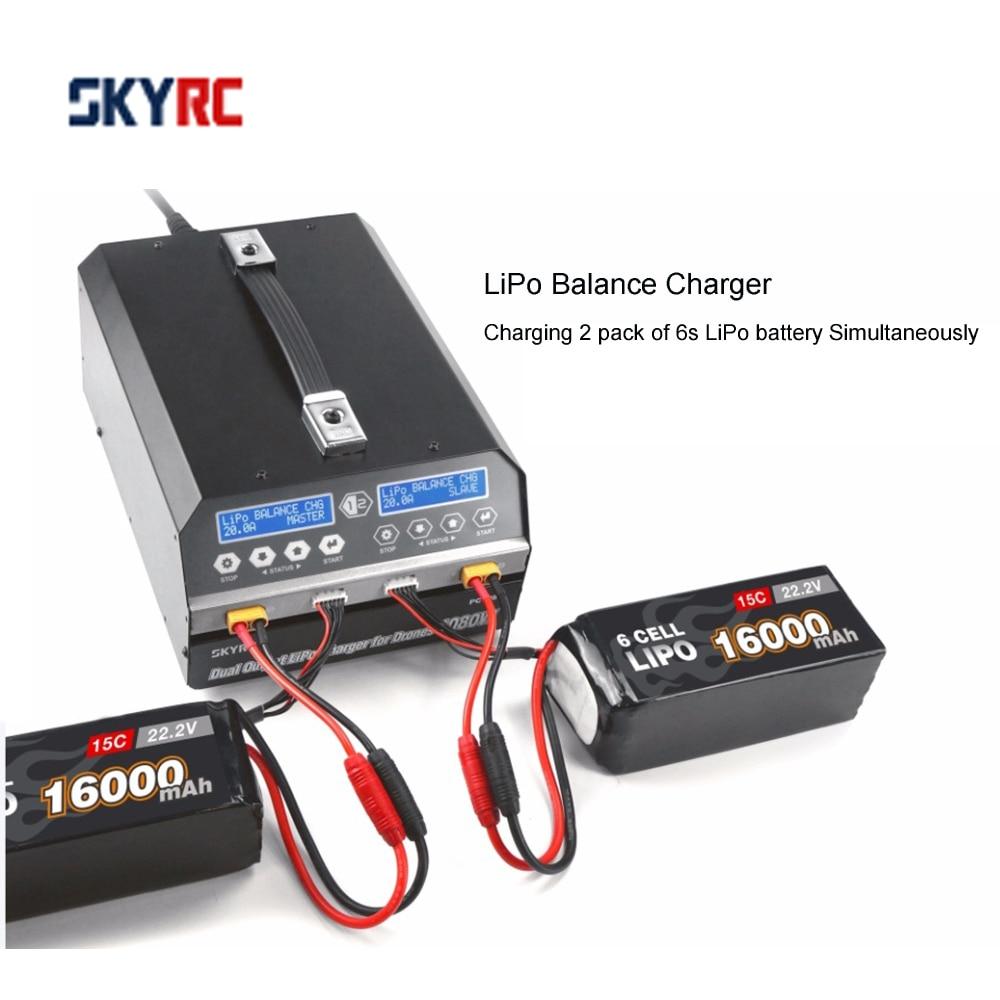 SKYRC PC1080 شاحن بطاريات 1080 واط 20A 540 واط * 2 ثنائي القناة شاحن بطارية ليثيوم أيون للزراعة بدون طيار