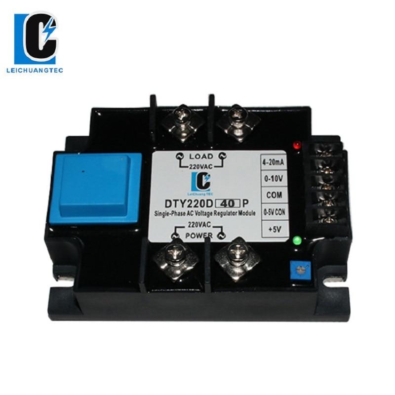 LeiChuang TEC-وحدة منظم جهد التيار المتردد 40A ، أحادي الطور ، SSR 4-20mA ، 0-10V ، تحكم مقياس الجهد