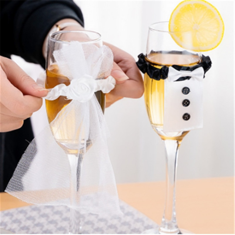 Decoración Para Boda, 2 unidades, copa de vino con tapa, disfraz para novio, despedida de soltera, despedida de soltera, despedida de soltero, decoración para fiestas