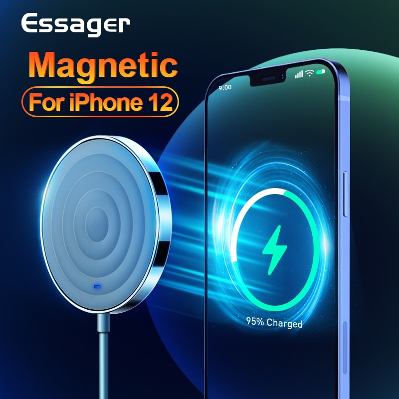 Essager 15W QI Magnetic Wireless Charger For iPhone 12 Pro Max Mini Induction Fast Magic Magsafing W