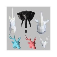 wall mounted vintage animal head abstract sculpture 3d figurine living room wall decor deer head home statue decoration