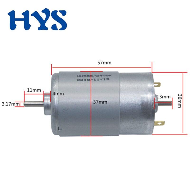 DC 12V 24V Mini Motor 555 Double Output Shaft High Speed 4000/8000rpm Electric 12 V 24 Volt Micro 555 Motors Controller PWM