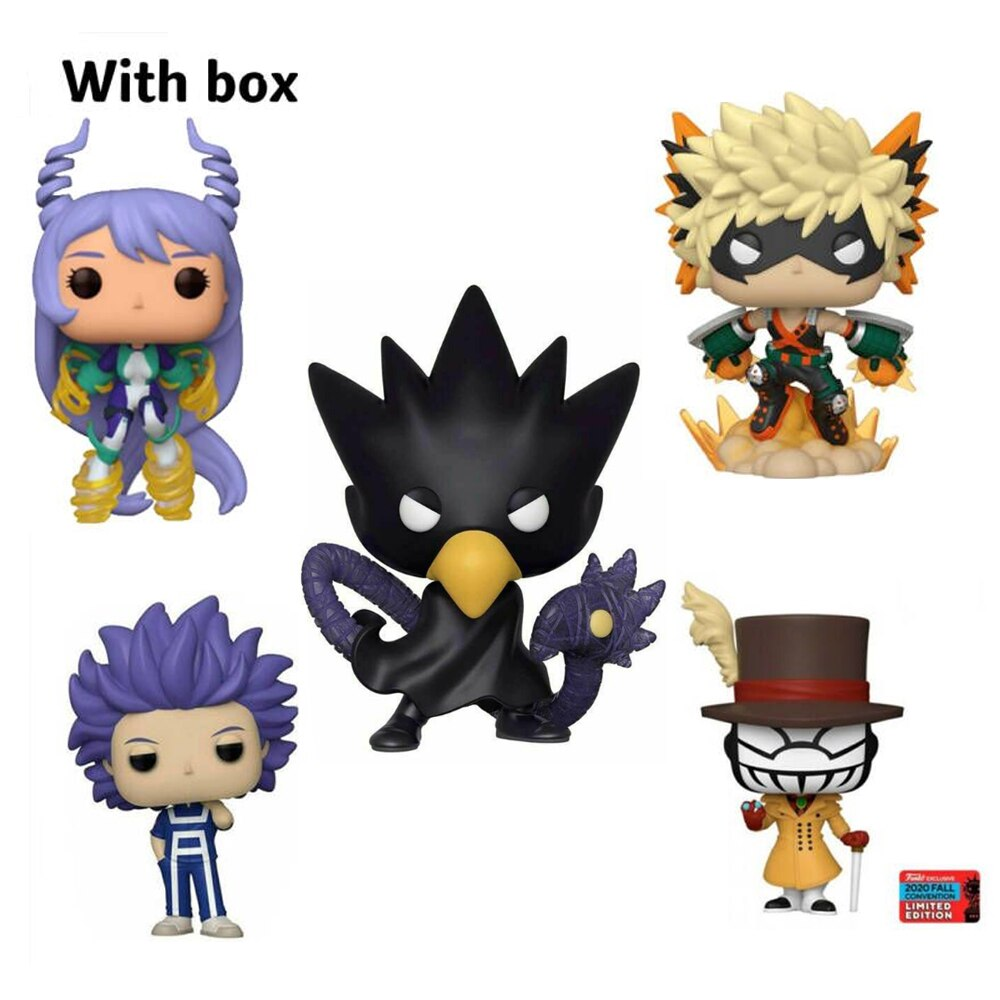 NEW My Hero Academia NEJIRE Katsuki Bakugo HITOSHI #803 Mr. Compress FUMIKAGE with box Figure POP Toys model toy for children