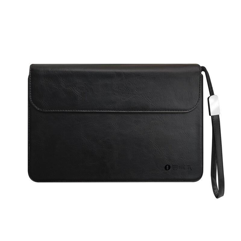 Caso de couro original para um portátil inteligente netbook 8.4 polegada uma mistura 3 / 3 s/3 s platina bolsa maleta marrom preto