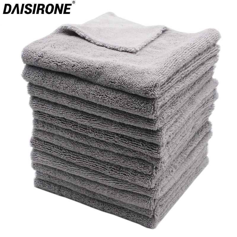 12 шт., 40x40 см, супер толстые плюшевые безводные полотенца из микрофибры, уход за автомобилем, чистящие салфетки из микрофибры, полировка воск...
