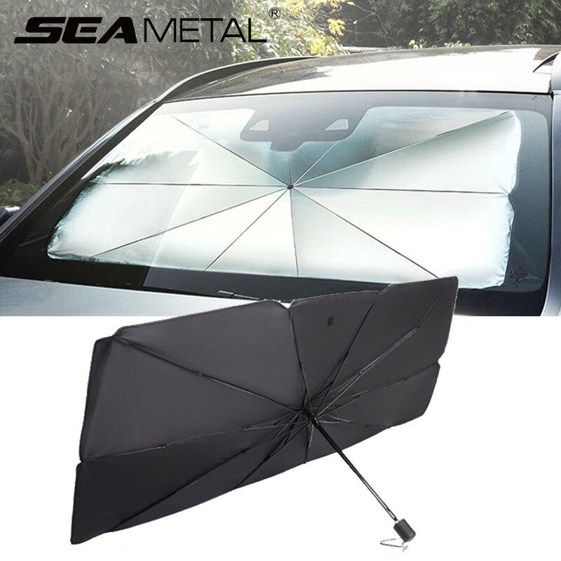 Pára-sol do carro cobre janela interior guarda-chuva carro-capa auto sol protetor uv pára-brisa sun dashboard sombra capa acessórios