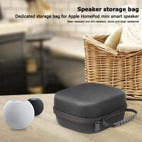 Boite a coque rigide de protection pour haut-parleur intelligent  etui de transport pour Apple HomePod Mini  sac de rangement resistant aux chocs et aux chutes