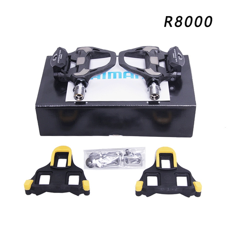 Ultegra PD-R8000 SPD-SL Carbon Road Bicycle Bike Pedals Clipless Pedals with SPD-SL R8000 Cleats Cycling Pedal SM-SH11 box