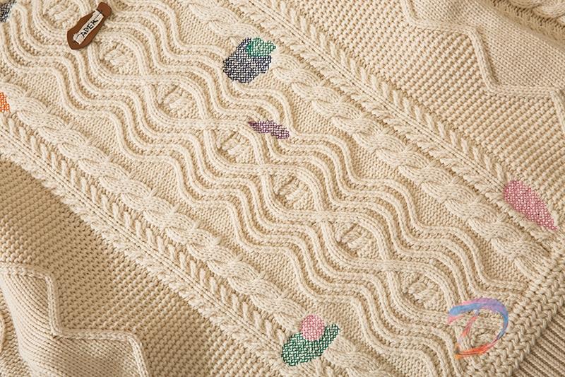Men Women Ader Error Sweater Twist Embroidery Round Neck Wool Sweater Adererror Casual Pullover enlarge