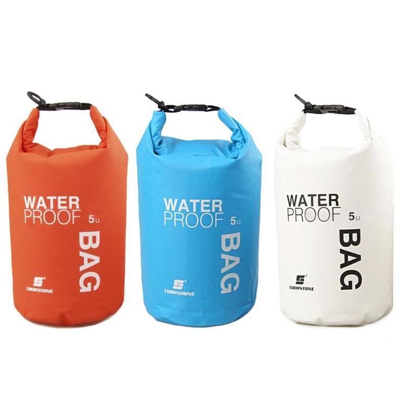 5L al aire libre de buceo de compresión de almacenamiento bolsa impermeable bolsa seca para hombre mujeres natación Rafting Kayak viaje Camping equipo