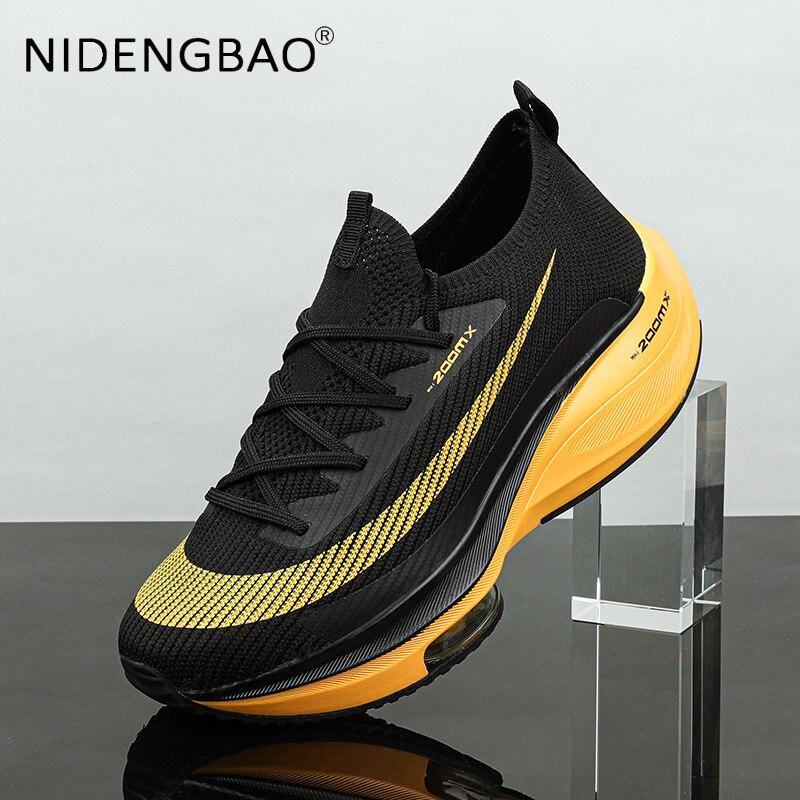 Легкие мужские кроссовки на воздушной подушке, легкая спортивная обувь для бега, легкая атлетика, марафон, Нескользящие, Повседневные Удобн...