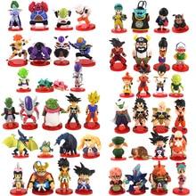 3,5-9cm 8 teile/satz Dragon Ball Z WCF Sohn Goku chichi Gohan Bulma Piccolo Vegeta Nappa Raditz Freeza PVC Action Figure Modell Spielzeug