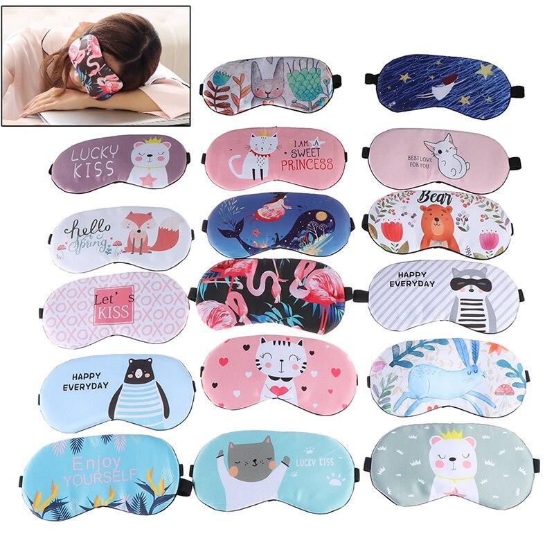 1 ud. Mascarilla creativa de algodón para dormir, parche para los ojos para viaje, relajante, ayuda para dormir, parche para los ojos, sombreado, máscara para los ojos, producto en oferta