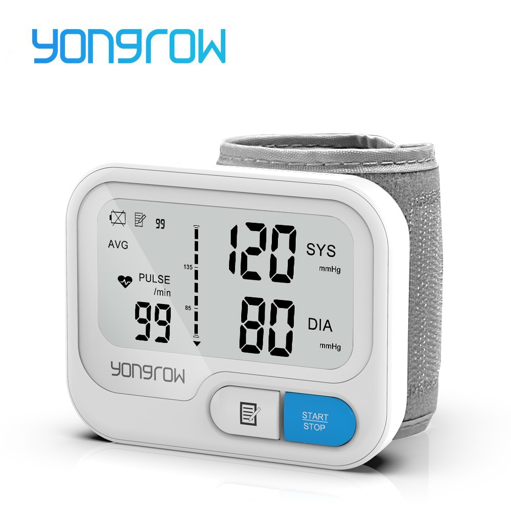aliexpress.com - Yongrow Automatic Digital Wrist Blood Pressure Monitor sphygmomanometer Tonometer tensiometer Heart Rate Pulse Meter BP Monitor