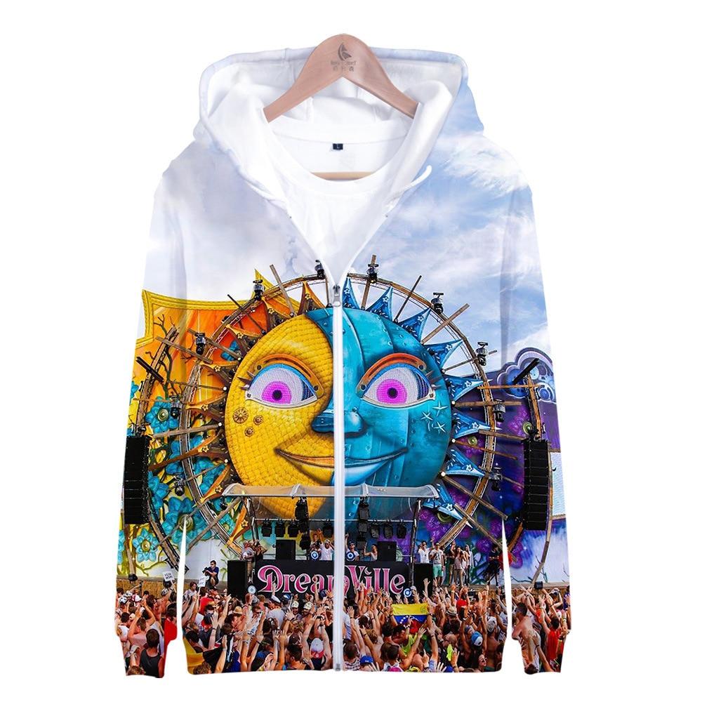 Ventas directas de fábrica con capucha y cremallera aledong Tomorrow Rowland Festival de música electrónica celebridad inspirado Sidno de moda