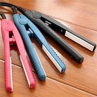 professional mini portable ceramic flat iron hair straightener splint non slip design hair styling tools for travel curlingiron