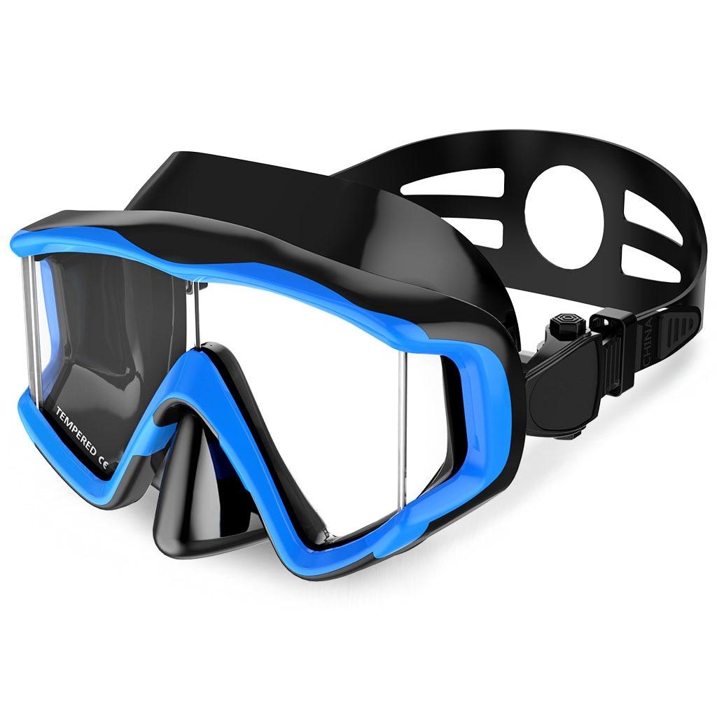 2020New scuba full mask anti-fog waterproof underwater swim glasses  Men women diving mask snorkeling deep diving Three windows