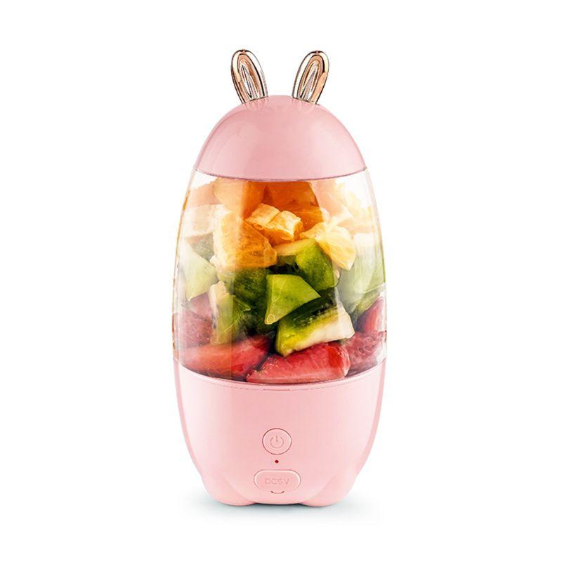 330ml Portable Mini USB Rechargeable Electric Juicer Bottle Fruit Blender Mixer
