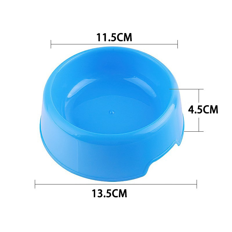 1pc Pet Candy Color Dog Bowl Plastic Round Smooth Arc Shape Cat and Dog Food Bowl Easy To Clean Dual Purpose Bowl Pet Supplies