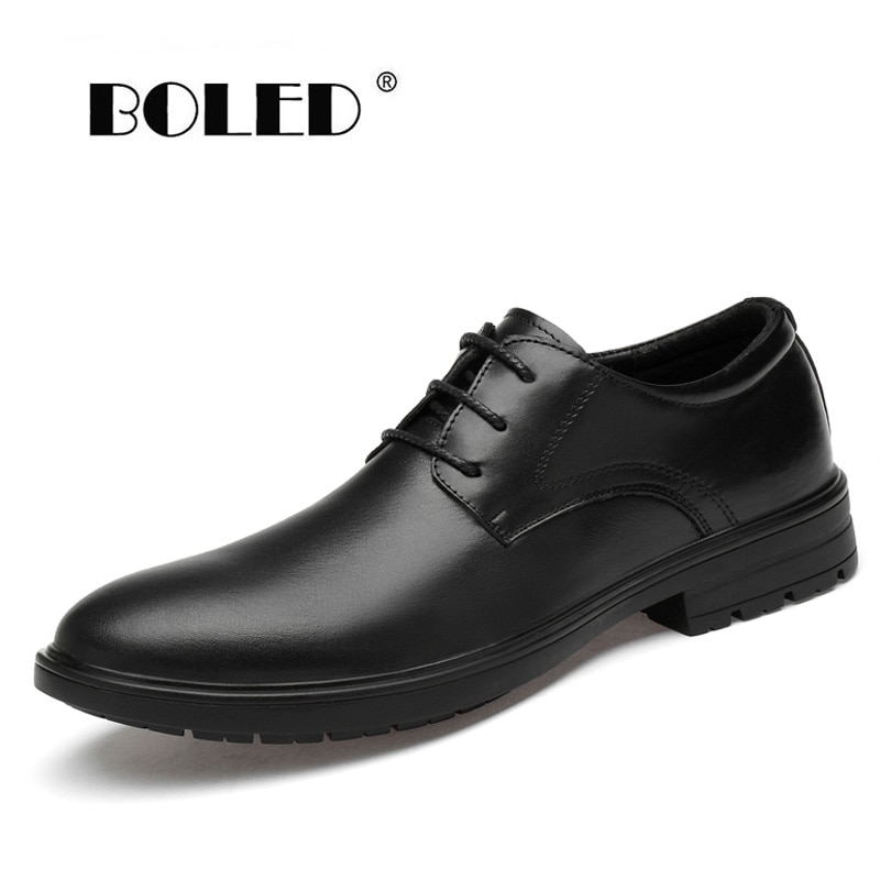 Genuine Leather Shoes Men Classic Lace Up Wedding Flats Shoes Handmade Office Dress Oxfords Men Shoes deification luxury brand men oxfords shoes blue metal toe genuine leather dress party shoes crystal studded mens wedding shoes