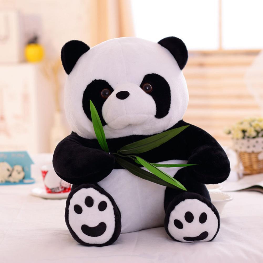 Vivid Funny Cartoon Panda Animal Stuffed Doll Soft Plush Toy Kids Animal Black and White Panda  Gift