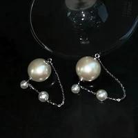 temperament pearl earrings top design delicate korean simple white balls brincos