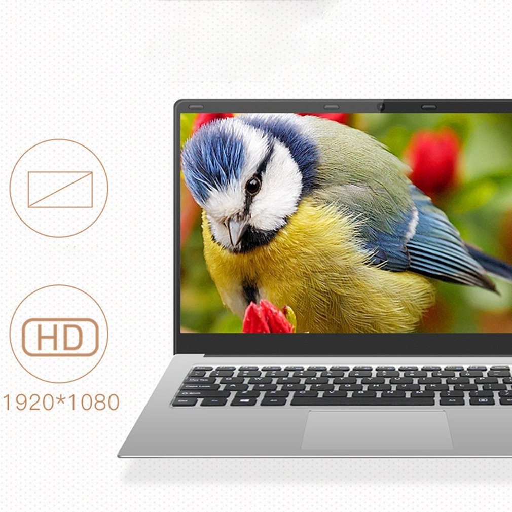 Windows 10 Laptop 15.6 inch 1920x1080 FHD Intel Dual independent high-quality speakers J3455 8GB RAM 256GB Notebook Ultra-thin enlarge