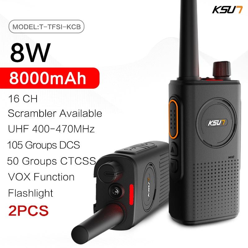 KSUN TFSI-KCB اتجاهين راديو 8 واط UHF 400-470 ميجا هرتز CB راديو الماسح الضوئي جهاز الإرسال والاستقبال مع التدافع VOX وظيفة لاسلكي تخاطب
