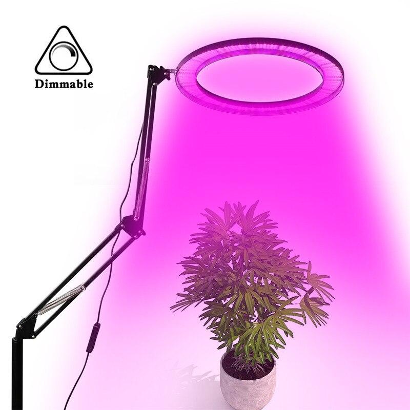 Luces de anillo de luz LED de espectro completo de 180W, lámpara anular de 36cm con soporte Vertical de 150cm para plantas de interior, lámparas para cultivo de plántulas de carpa