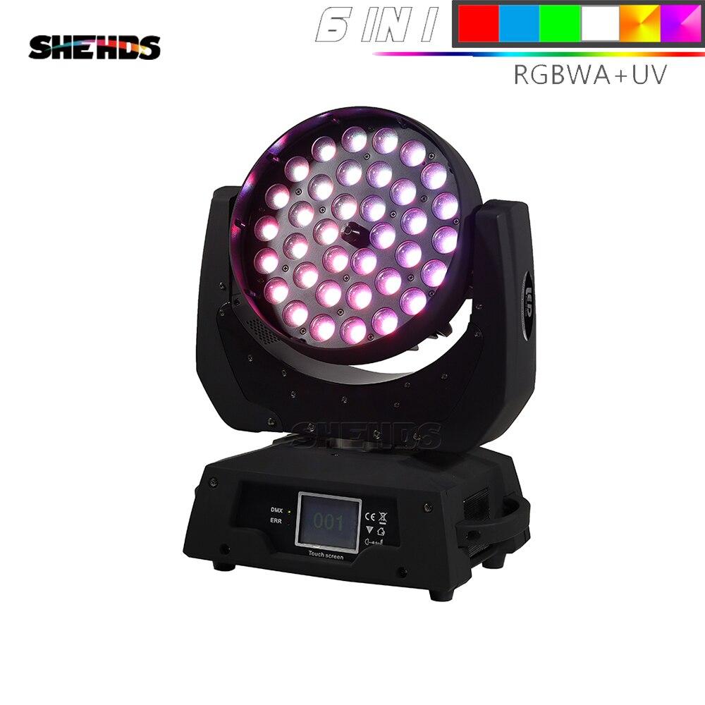 Pantalla táctil de alta calidad 36x18W RGBWA UV 6 en 1 LED Zoom luz Wash con cabeza móvil proyector perfecto para DJ Fiesta Disco y club nocturno