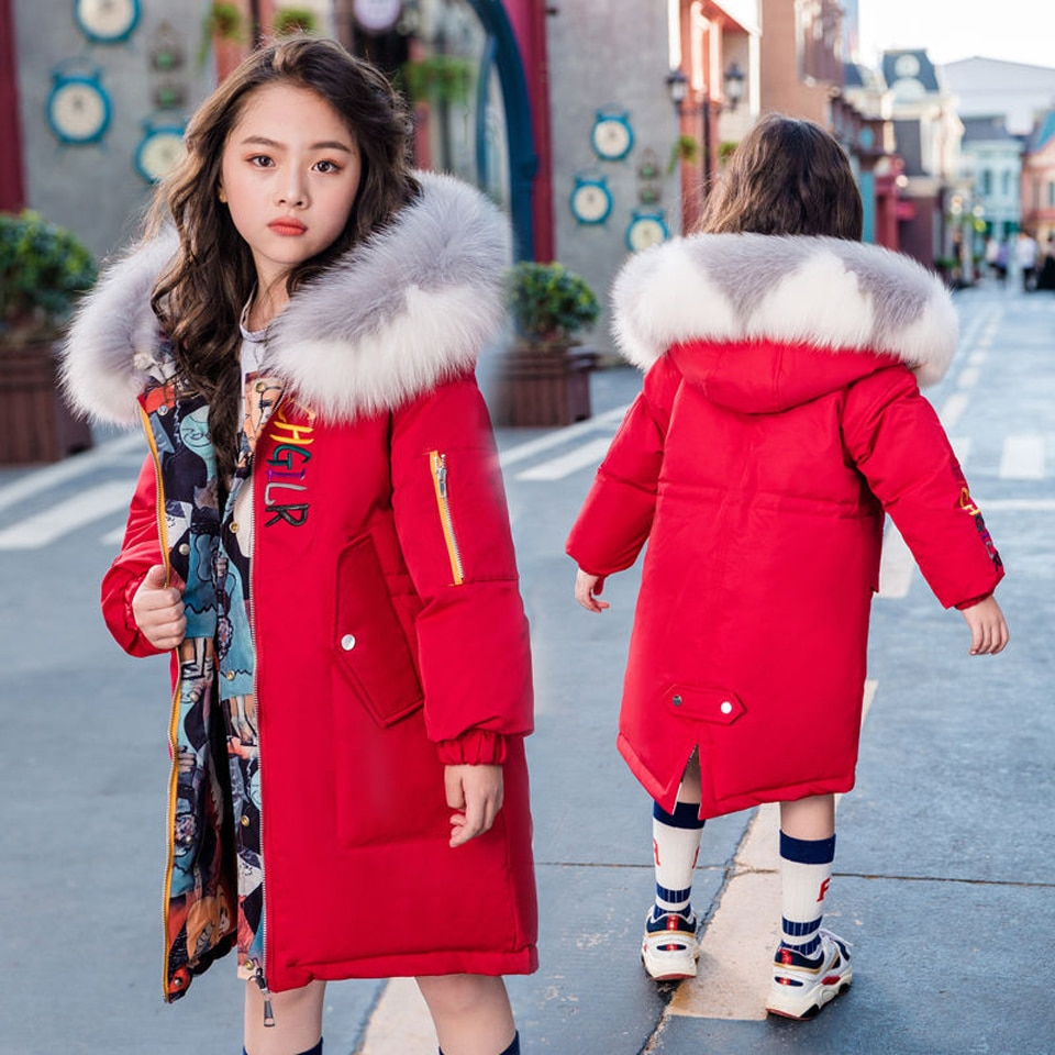 Chaqueta para niños abrigo de invierno para niñas Abrigo con capucha de algodón abrigo para niñas adolescentes tamaño 6 8 10 12 14 años
