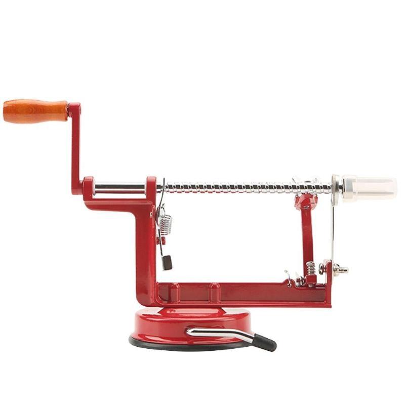 3 en 1 de acero fruta de Apple máquina de Peeler Corer Slinky cortador Bar casa mano manivela recorte de frutas pelador de patatas caliente