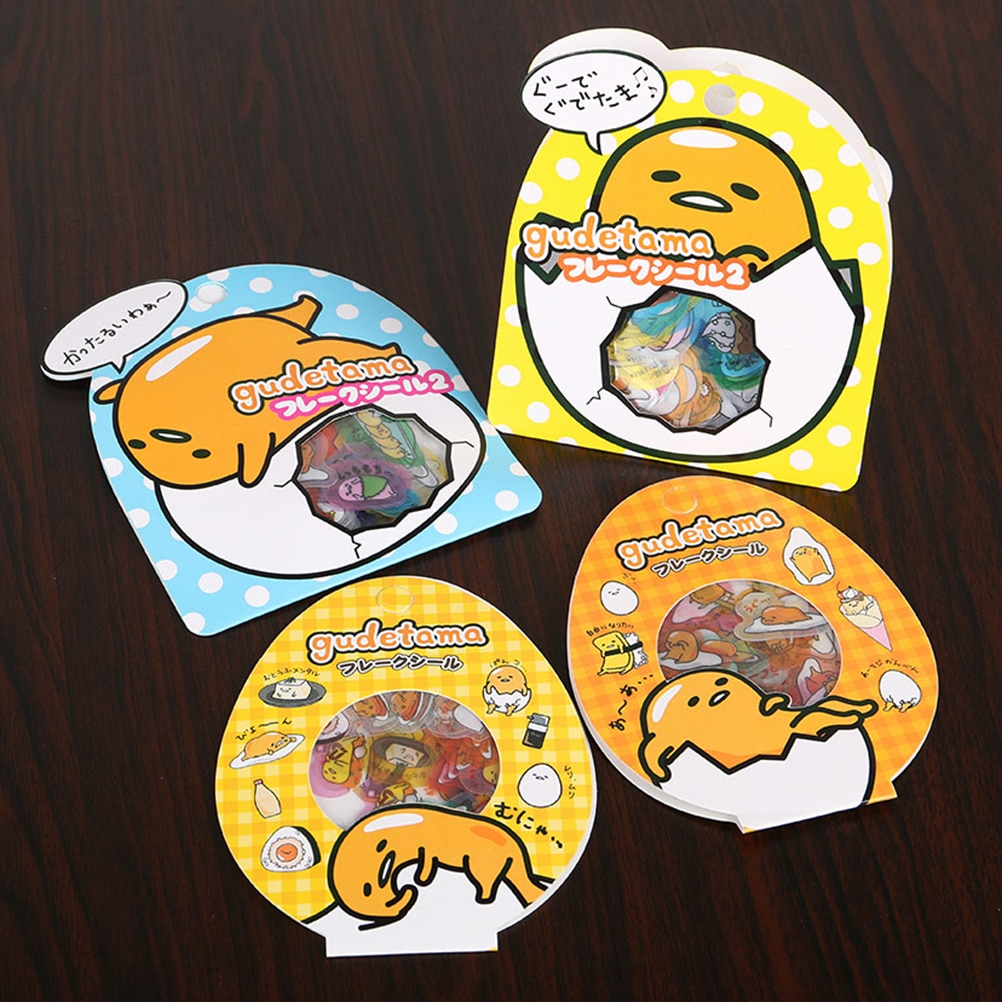 AliExpress - Cute PVC 60 Pcs/Pack Lazy Egg Sealing Stickers Diary Label Stickers Pack Decorative Scrapbooking Diy Stickers 4 Style Kids Gift