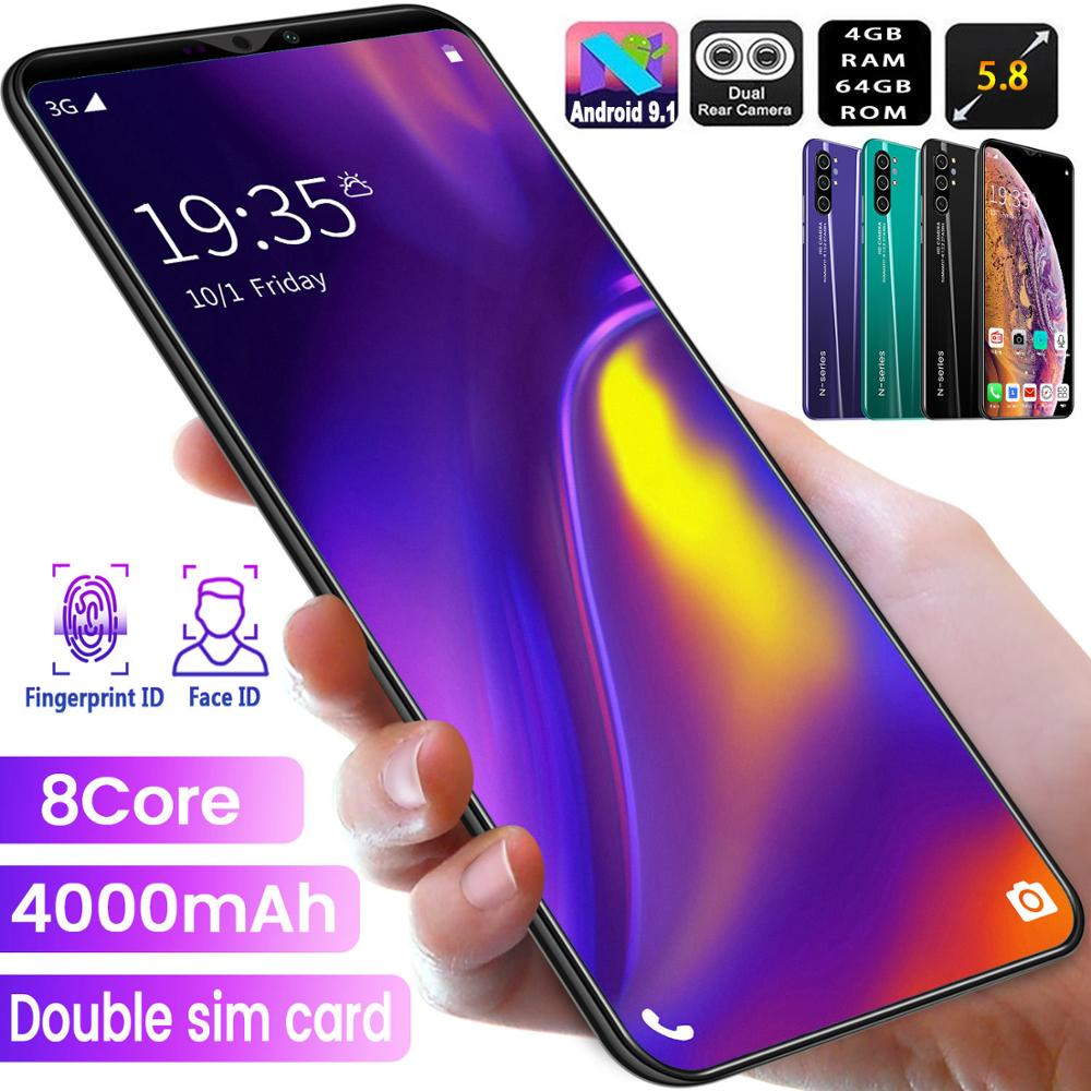 TEMK Note10 3G Smartphone 5.8 19:9 Android 10 4GB RAM 64GB ROM 8+16MP Camera 8 Core Dual SIM Unlock WiFi Mobile Phones CellPhone