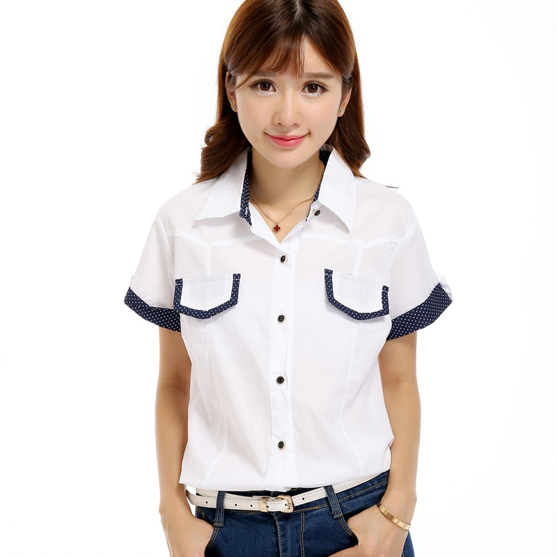Camisas para chicas, moda Primavera Verano para mujeres, puño enrollado sólido, Camisa bajo anudado, botón, blusa Top informal, camisas femeninas, Camisa Garota